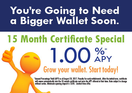 15 Month Certificate Special