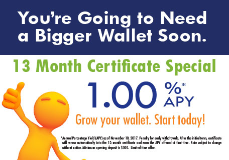 13 month certificate special