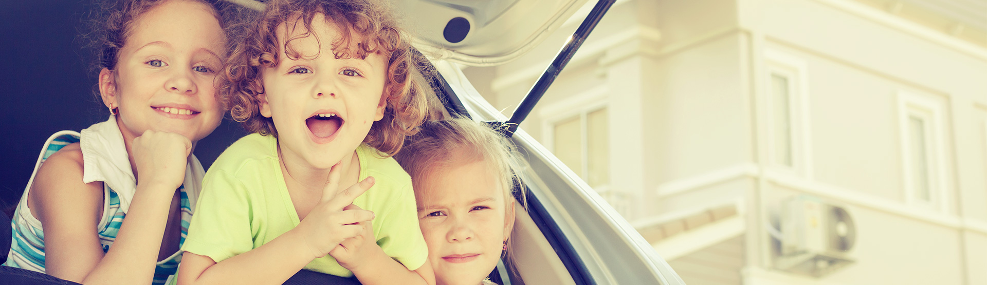 kids in back of a car