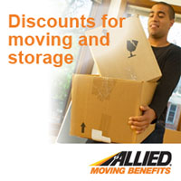 Discounts for moving and storage.