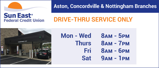 aston, concordville and nottingham branches